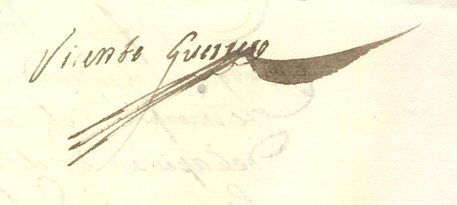 Firma de Vicente Guerrero