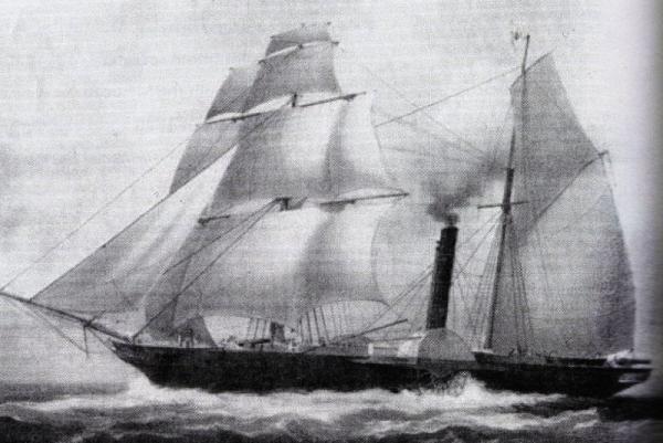 Vapor de Guerra Guadalupe 1842