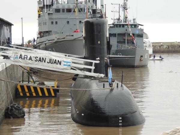 Fotografía del submarino ARA San Juan