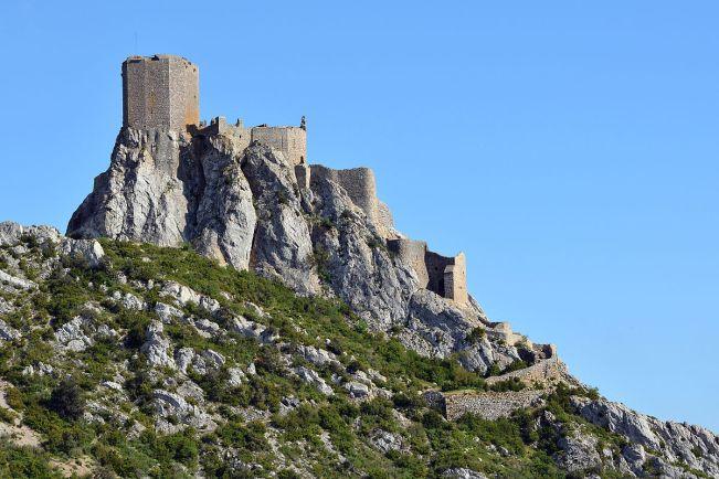 El castillo de Quéribus fue el último en entregarse durante la cruzada albigense